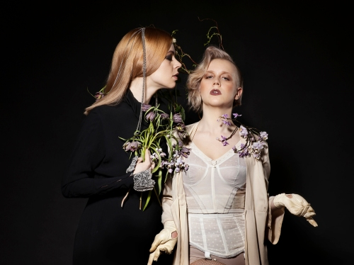Laura with her Muse, performance artist Noora Palotie. Picture by Juha Reunanen.