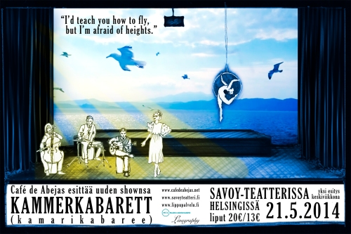 The Finnish flyer for our premiere at Savoy-teatteri.